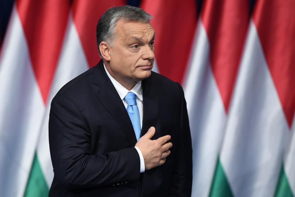El 'premier' húngaro, Viktor Orban, este domingo en Budapest.