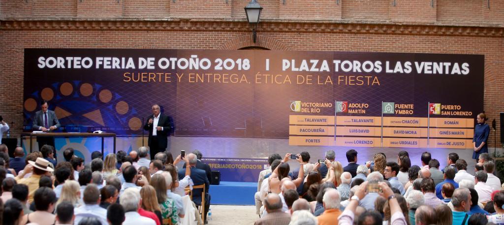Fotografía del sorteo de la última Feria de Otoño