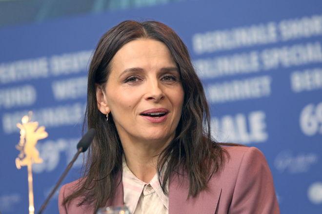La actriz francesa, el domingo, durante la presentación en Berlín de 'Celle que vous croyez'.