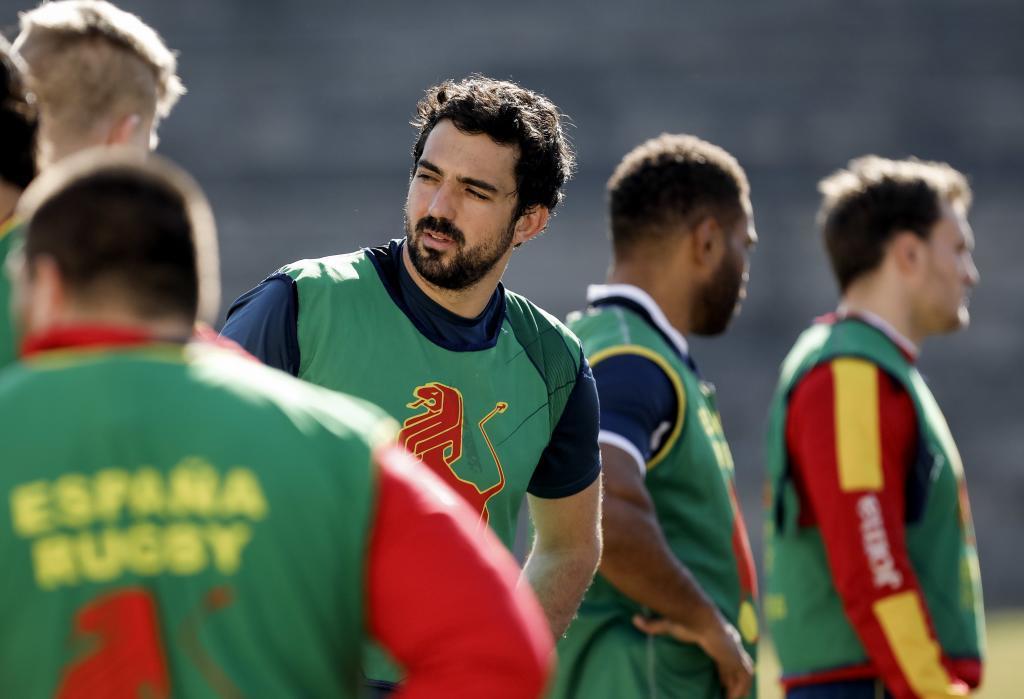 Lucas Guillaume, durante un entrenamiento con España, la semana pasada.