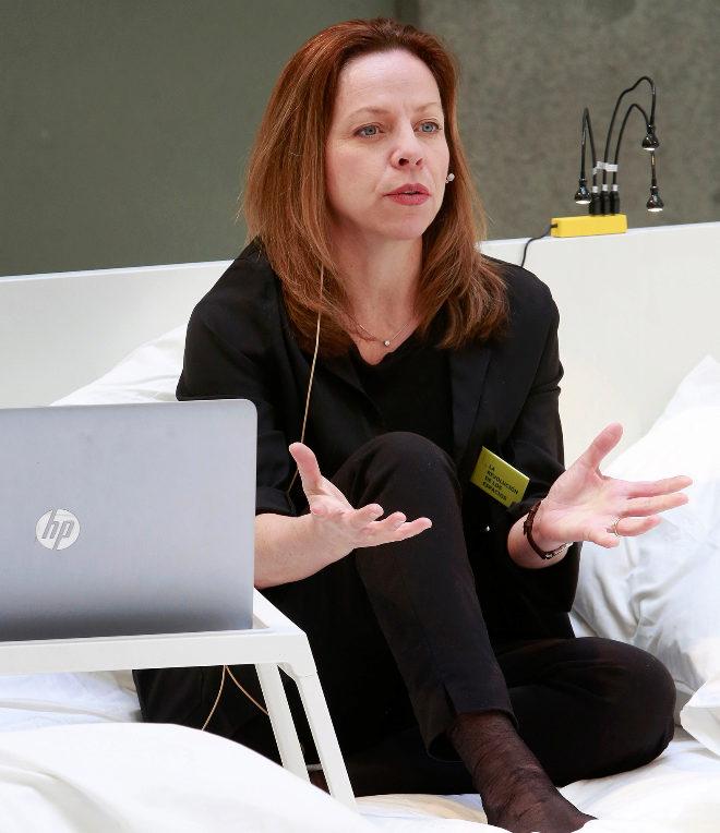 Evamaria Rönnegård, directora global de Diseño de Producto en Ikea, durante su charla  en el Madrid Design Festival.