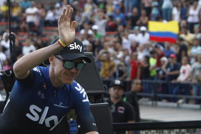 Chris Froome, Medellín (Colombia) durante la presentación del Tour Colombia.