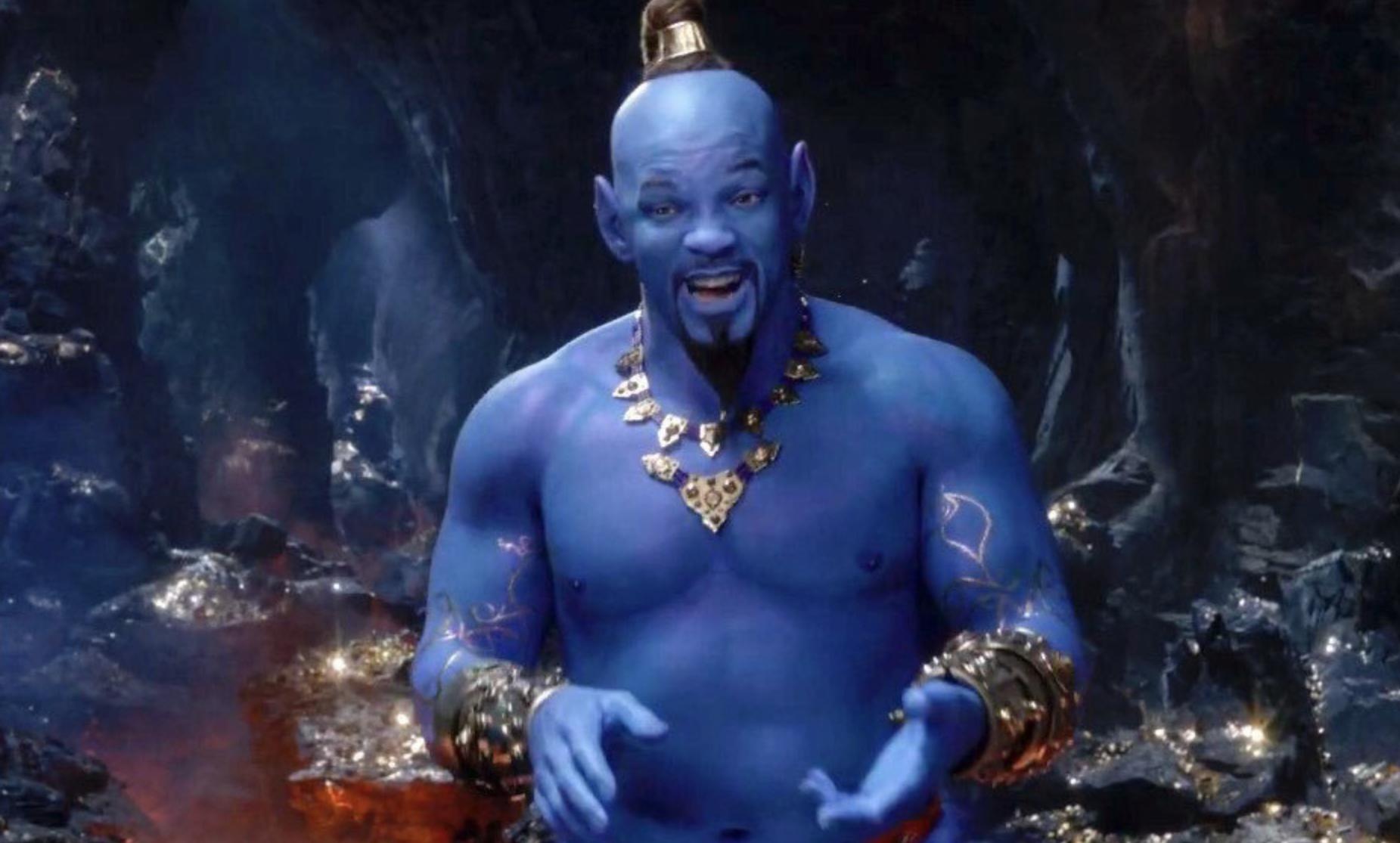 Will Smith como el Genio de la Lámpara en Aladdin