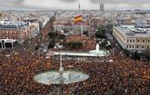 Vista de la concentración promovida por PP y Ciudadanos celebrada...