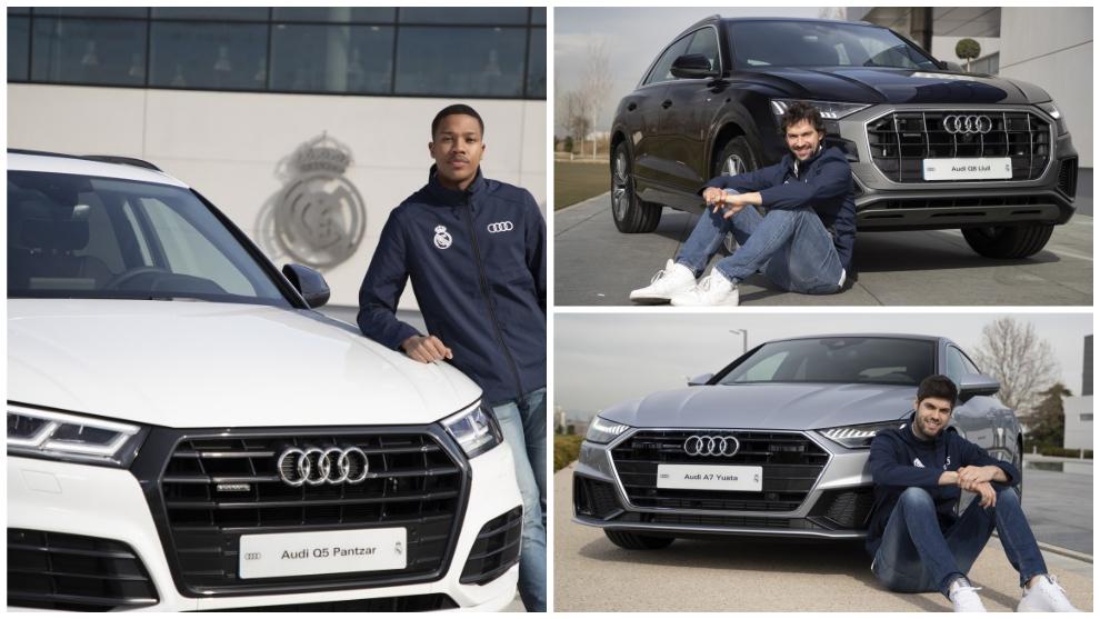 Audi entrega sus nuevos coches a los jugadores del Real Madrid de baloncesto
