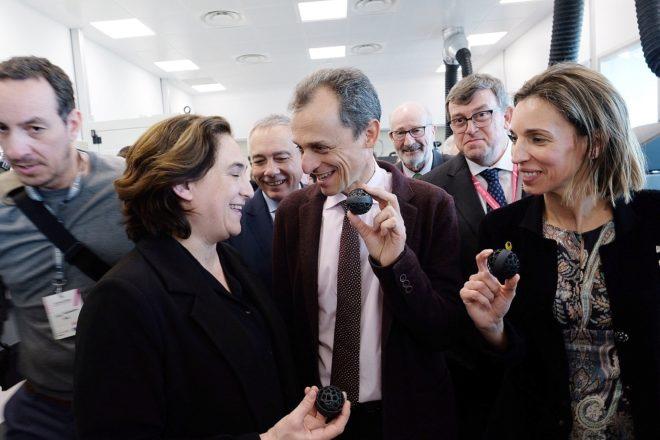 Ada Colau, Pedro Duque, Pere Navarro y Carme Chacón