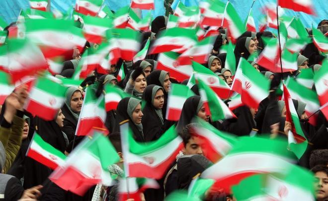Imagen de las celebraciones en Teherán del 40 aniversario de la Revolución de 1979.