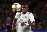Vinicius Jr, jugador del Real Madrid, preparado para el partido de...