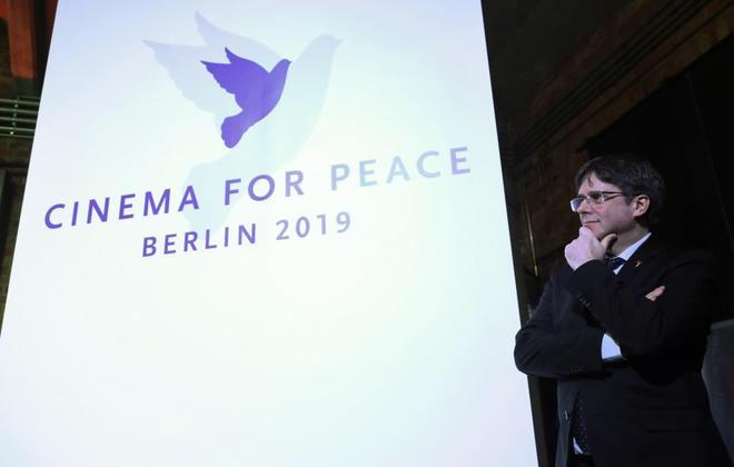 Carles Puigdemont, este lunes en Berlín.