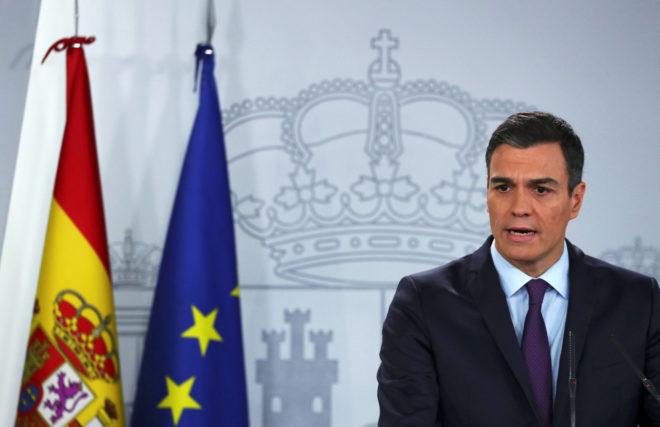 El presidente del Gobierno, Pedro Sánchez, durante una intervención en el Palacio de la Moncloa la pasada semana.