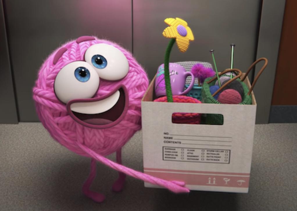 Fotograma de Purl, el nuevo cortometraje de Pixar