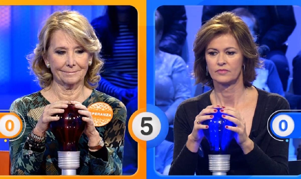Esperanza Aguirre midió sus conocimientos en Pasapalabra