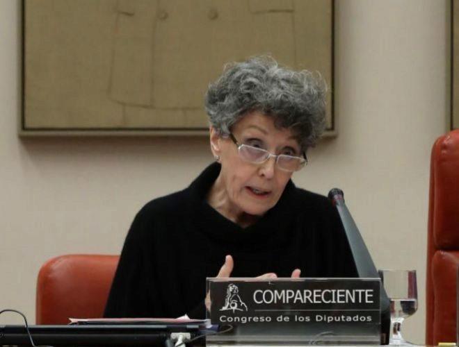Rosa María Mateo en el Congreso de los Diputados.