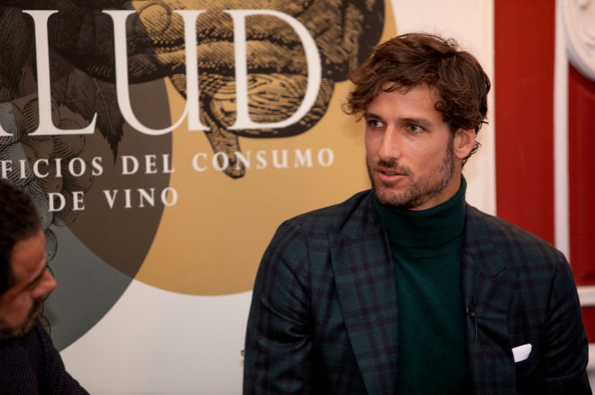 El tenista toledano, durante su intervención en las I Jornadas 'A tu salud', organizadas por Marqués de Murrieta.