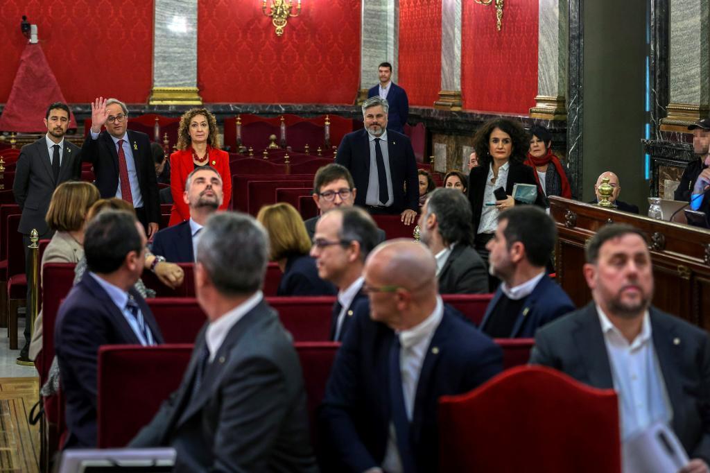 El presidente de la Generalitat, Quim Torra, a su llegada al Tribunal...