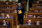 El portavoz de ERC en el Congreso, Joan Tardá, antes de su...