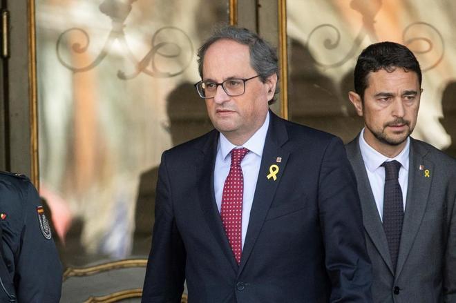 El presidente de la Generalitat, Quim Torra, a las puertas del...