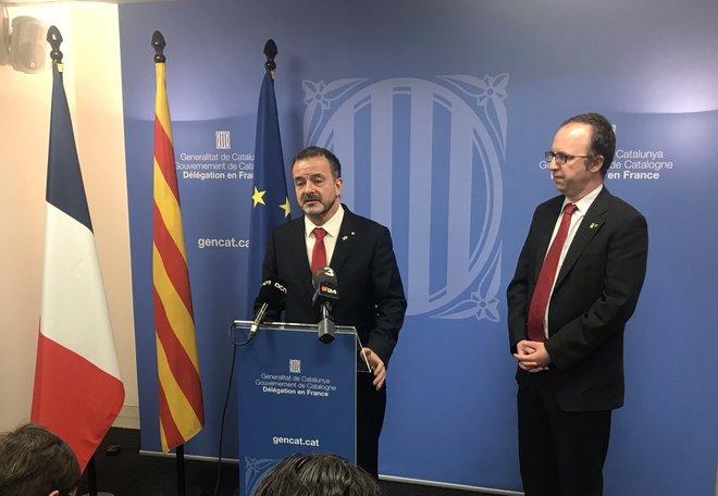 El conseller catalán de Exteriores, Alfred Bosch, durante la...