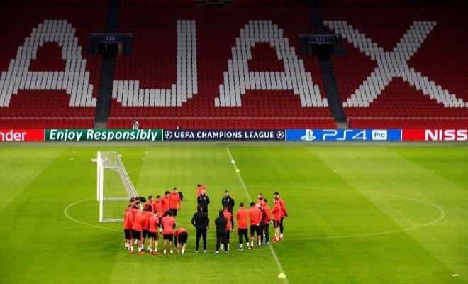 Solari, al frente del último entrenamiento del Real Madrid en el...