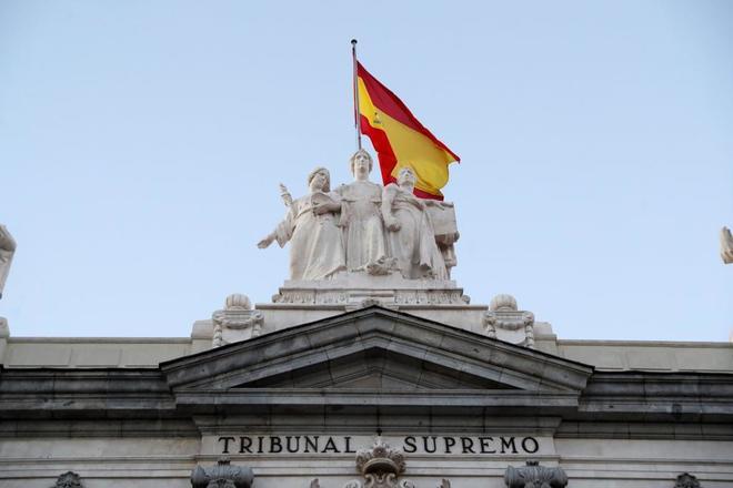 Detalle de la fachada del Tribunal Supremo, donde se juzga a los...