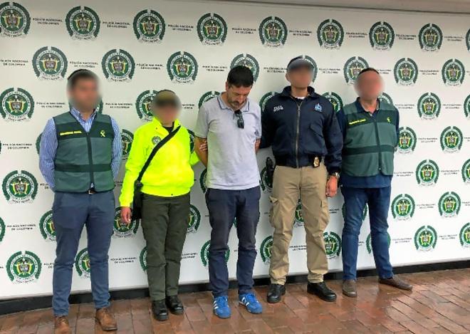 Carlos García Roldán, acusado de perpetrar la mayor estafa inmobiliaria de Mallorca, tras ser detenido en Colombia.