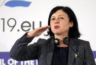La comisaria europea de Justicia, Vera Jourová