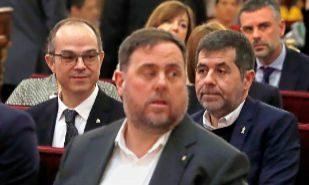 El líder de ERC, Oriol Junqueras, durante la primera jornada del...