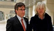 El ex presidente de la Generalitat, Carles Puigdemont, junto al...
