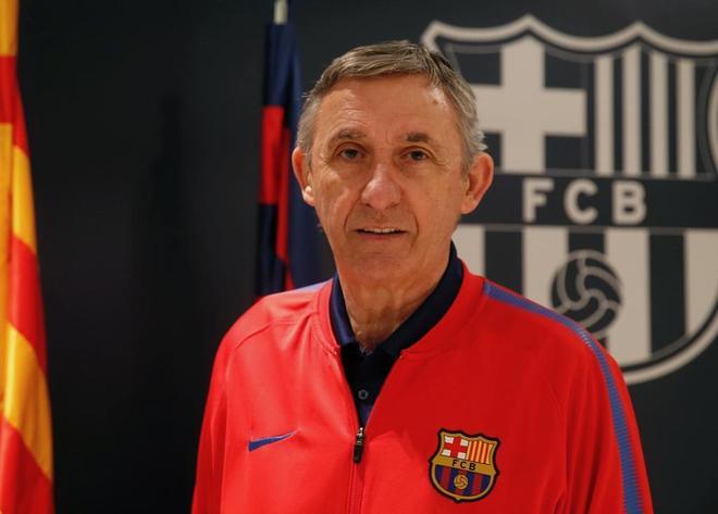 Svetislav Pesic, técnico del Barcelona.