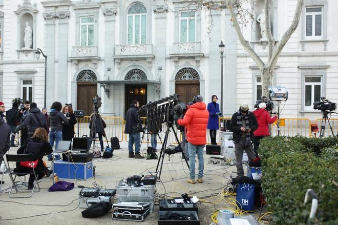 Segunda jornada del juicio por el 'procés' en el Tribunal Supremo.