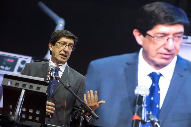 Juan Marín, vicepresidente de la Junta y consejero de Justicia, Turismo, Regeneración Democrática y Administración Local.