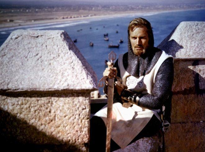 Fotograma de 'El Cid', la versión del icono castellano protagonizada por Charton Heston en 1961.