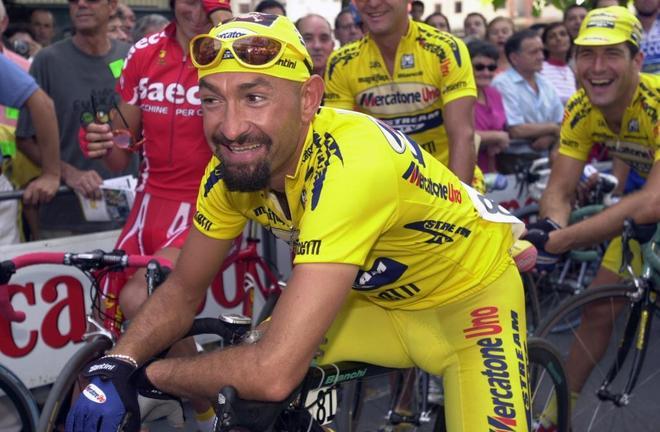 Marco Pantani, durante el Gran Premio de Llodio de 2001.