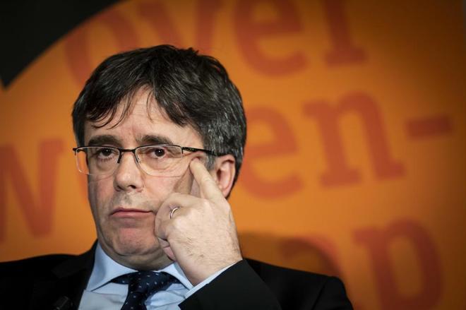 El ex presidente de Cataluña Carles Puigdemont en un evento en Groninga (Holanda).