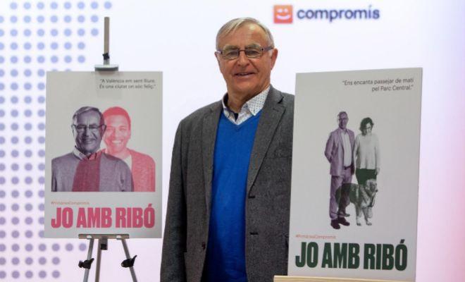 El candidato de Compromís a la Alcaldía, Joan Ribó, durante la presentación de su candidatura.