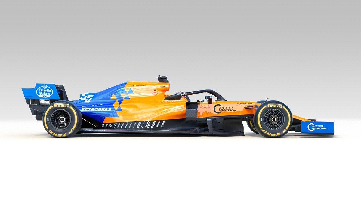 Así es el nuevo MCL34, el McLaren de Carlos Sainz