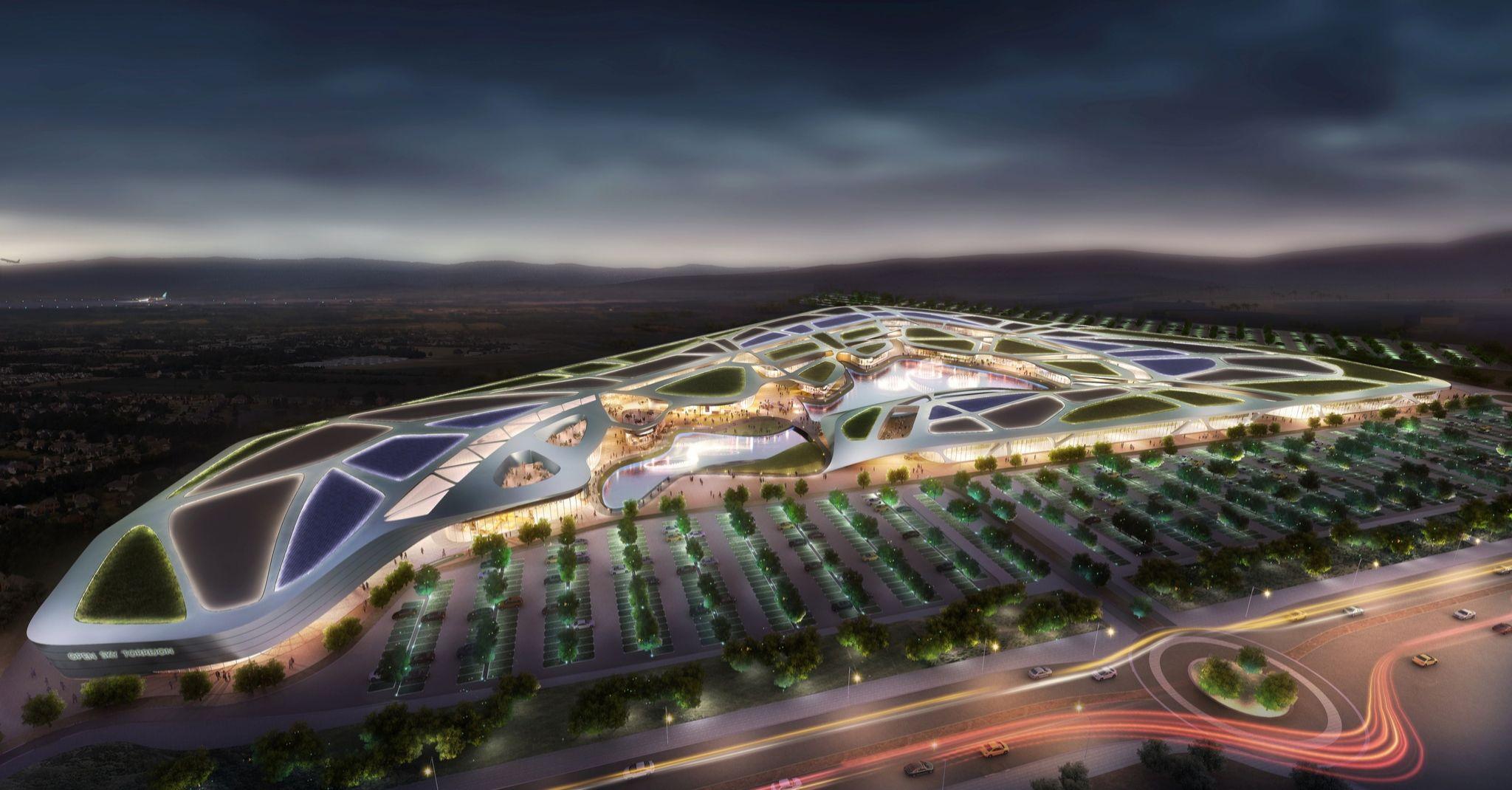 Con 96.000 m2 de superficie y un lago navegable de 12.500 m2 , entre otros atractivos, Open Sky será un referente del ocio en el Corredor del Henares y un duro competidor para el centro comercial Parque Corredor.