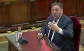 El ex vicepresidente del Govern, Oriol Junqueras, durante su...