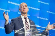 Jeff Bezos, durante la inauguración de una de las nuevas localizaciones del Washington Post en Washington.