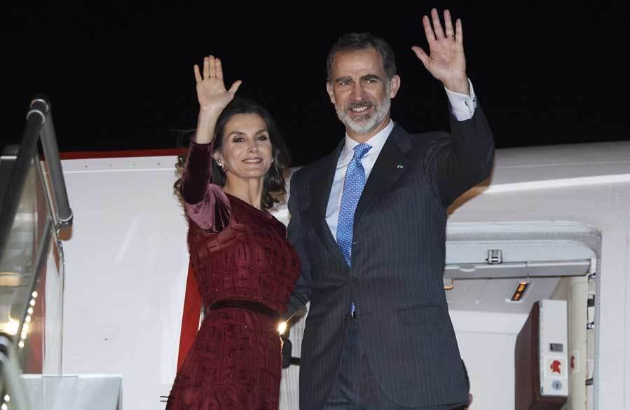 Letizia se despide de Marruecos estrenando vestido