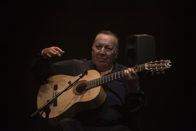 Paco Cepero en el reciente Festival Flamenco de Rivas.