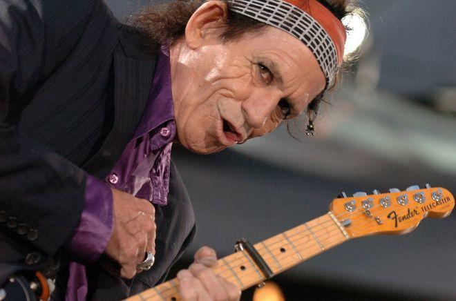 El guitarrista Keith Richards