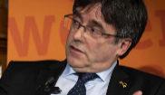 El ex presidente de la Generalitat Carles Puigdemont, durante un acto...