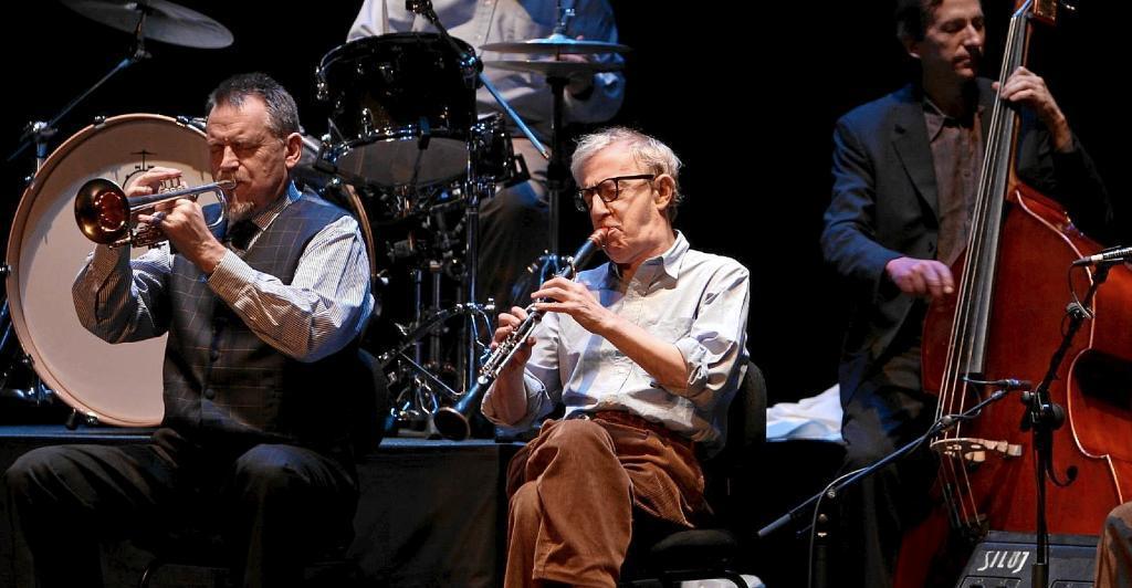 Woody Allen en una de sus actuaciones en España.