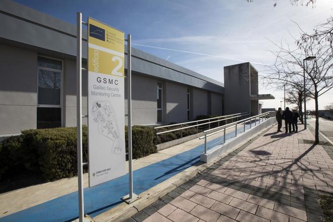 El edificio de máxima seguridad del Inta que alberga los equipos del sistema de satélites Galileo.