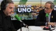 El periodista Carlos Alsina con el 'president' Quim Torra, esta semana en Onda Cero.
