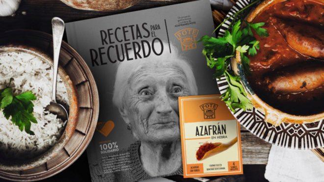 El recetario solidario con los enfermos de Alzheimer.