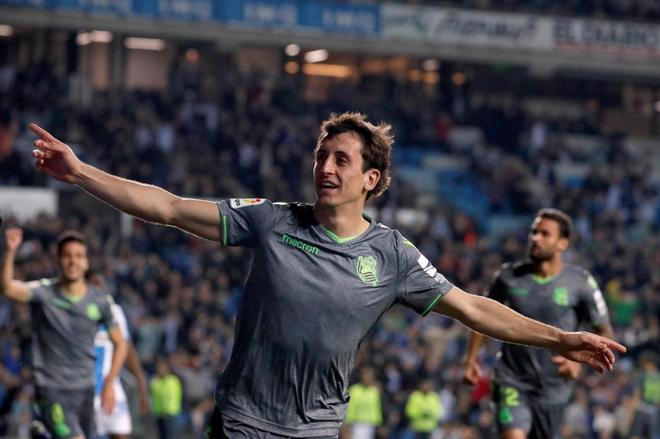 Oyarzabal celebra uno de los goles anotados ante el Leganés.