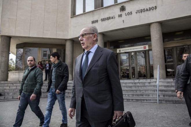 El ex vicepresidente del Gobierno Rodrigo Rato, en los juzgados, en abril de 2018.