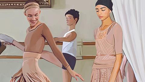 Moda ilustrada - Inspiración ballet / Dior